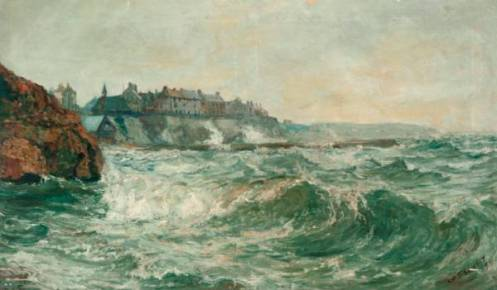 Stormy Sea at Cullercoats by John Falconar Slater, North Tyneside Council Art Collection